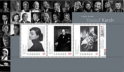 Canada Post, Karsh Commemorative Stamps