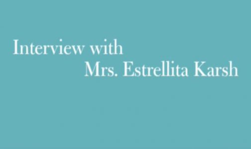 Video Interview with Mrs. Estrellita Karsh by MFA Boston