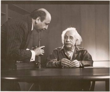 With Albert Einstein, Princeton, 1948