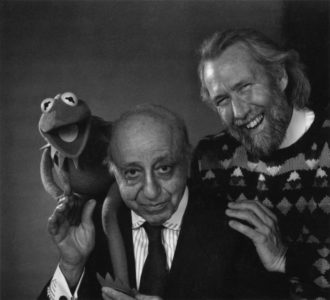 With Kermit and Jim Henson, 1990