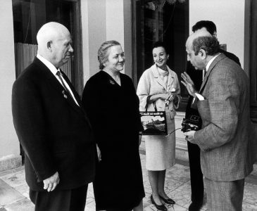 Yousuf and Estrellita with Nikita and Nina Khrushchev at their dacha in Moscow, 1963