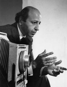 Karsh in conversation with his subject, 1960s