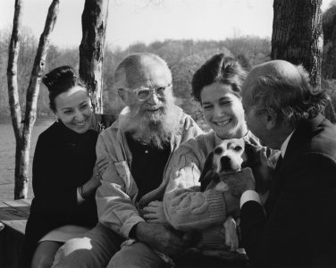 Yousuf and Estrellita with Edward and Joanna Steichen, 1967
