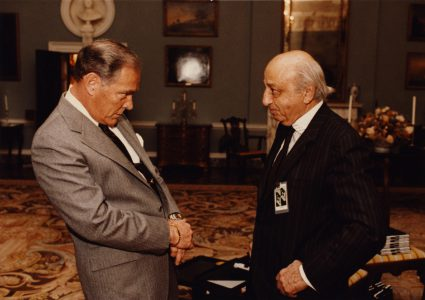 With Secretary of State Alexander Haig, 1982