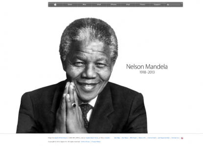 Nelson Mandela by Yousuf Karsh on Apple Home Page