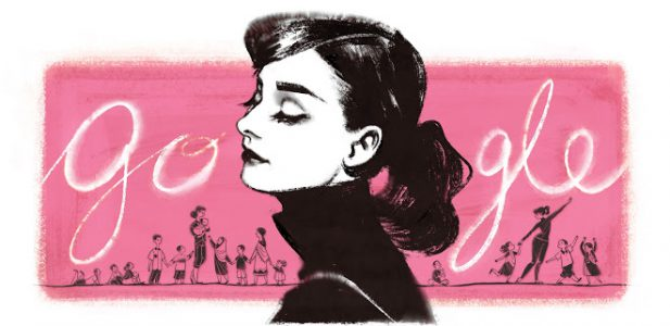 Audrey Hepburn Google Doodle Inspired by Karsh Portrait