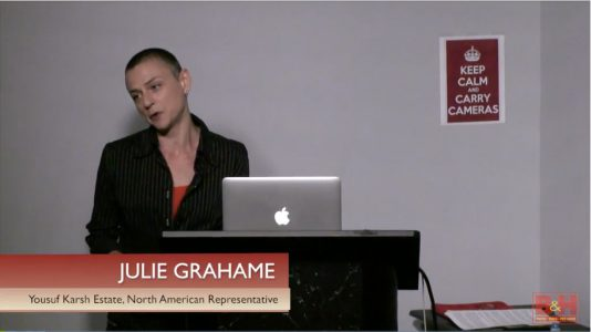 The Yousuf Karsh Archive, Lecture by Julie Grahame