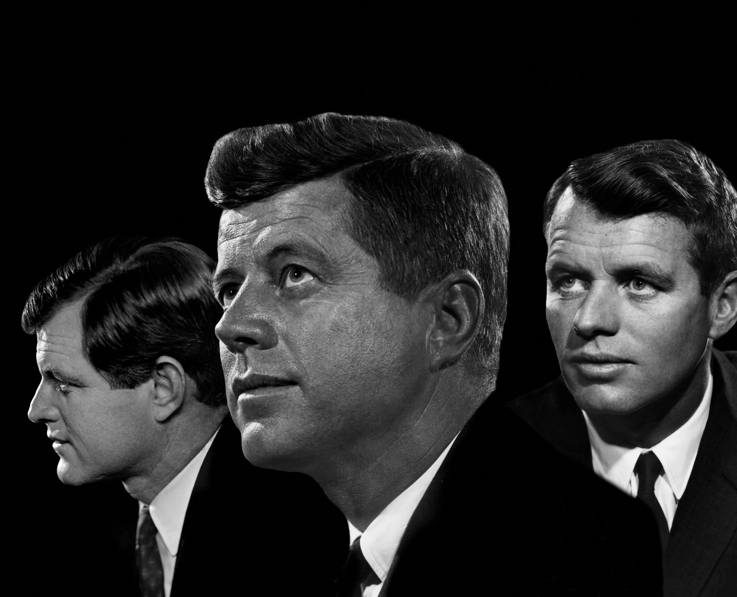 Edward Kennedy, John F. Kennedy and Robert F. Kennedy