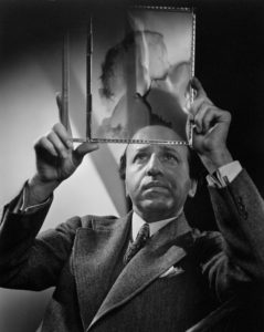 Self-Portrait with negative of Peggy Cummins, 1946