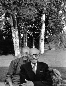 Karsh's parents, Massih and Bahiyah Karsh, in Ottawa, 1949