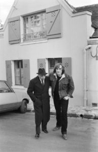 With Gerard Depardieu, Paris, 1981. By Manuel Litran, Paris Match