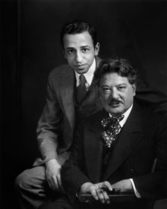 Yousuf Karsh with his mentor,  John Garo, 1930