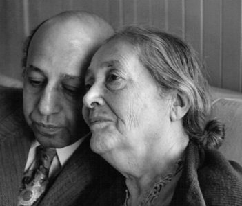 With his mother, 1945, by Malak Karsh