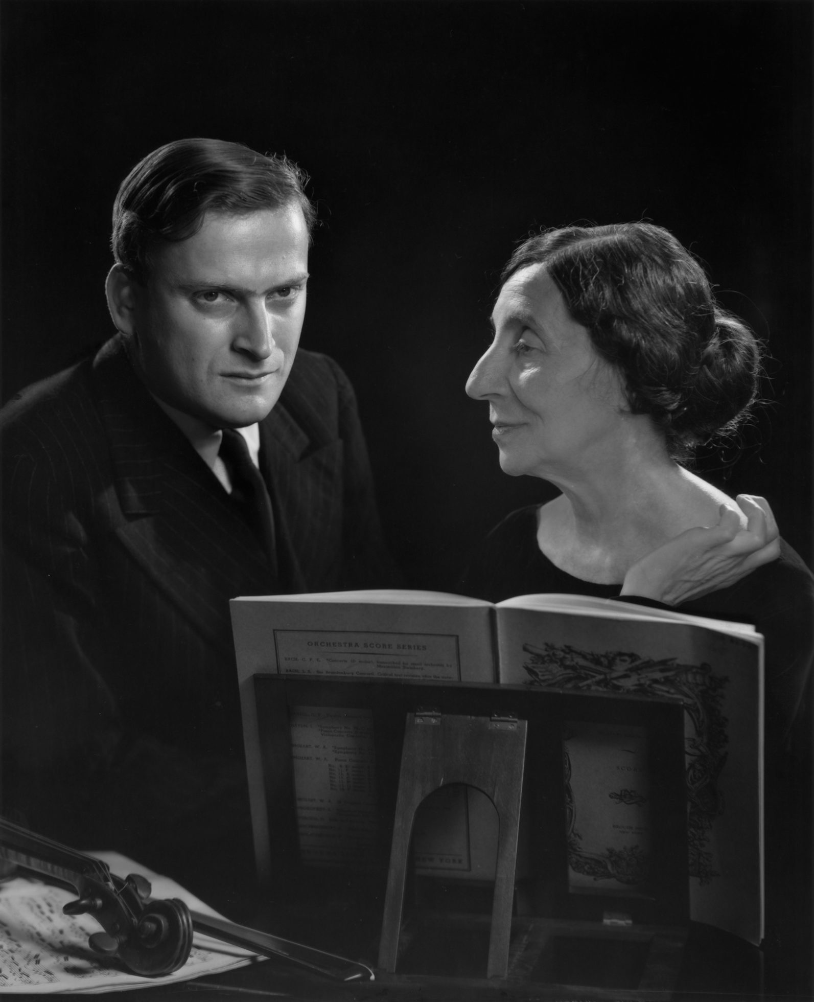 Yehudi Menuhin and Wanda Landowska