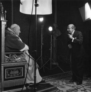 With Pope John XXIII, 1959
