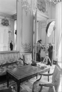 Photographing President Giscard d'Estaing, Paris, 1981. By Manuel Litran, Paris Match