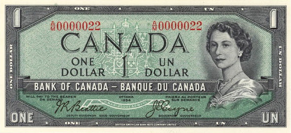 Canadian One Dollar Note in 1954 Featured Both Yousuf and Malak Karsh