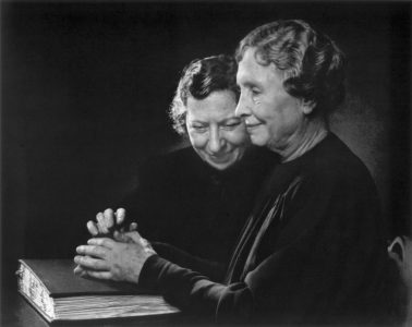 Helen Keller and Polly Thompson
