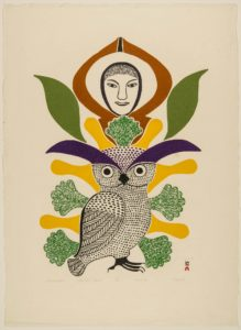 Kenojuak Ashevak Summer Owl Follow the North Star