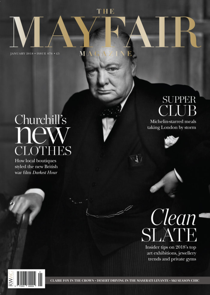 Cover of Mayfair Magazine, January 2018
