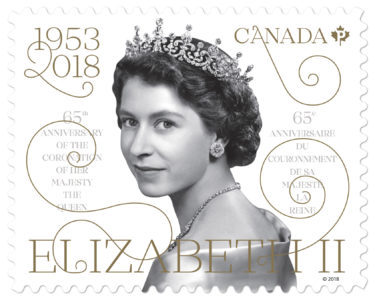 Canada Post Celebrates 65th Anniversary of Queen's Coronation