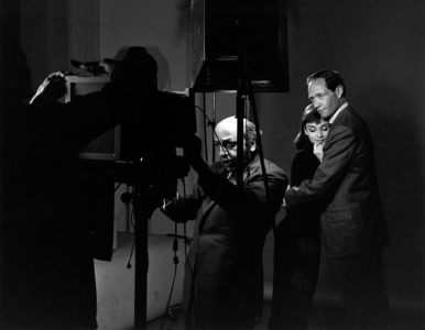 Karsh photographing Audrey Hepburn and Mel Ferrer, 1956, by Bill Avery/MPTV Images