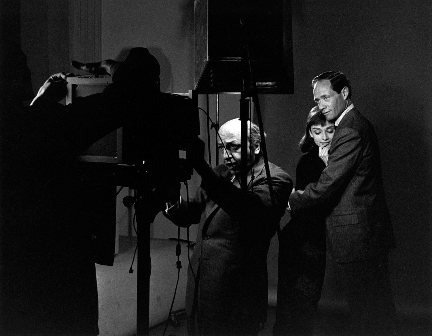 Audrey Hepburn and Mel Ferrer being photographed by Yousuf Karsh circa 1957 © 1978 Bill Avery / mptvimages.com
