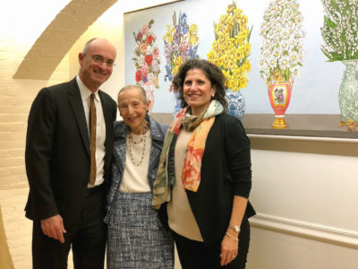 Estrellita Karsh unveils Nan Freeman's Paintings for Women's Lunch Place