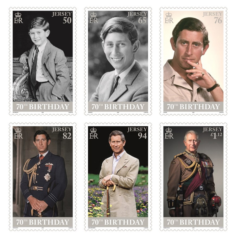 Prince Charles 70th birthday commemorative stamps