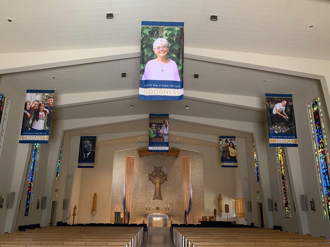 Notre Dame de Namur Chapel Banner