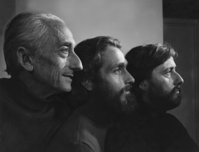 Jacques Cousteau and Jean-Michel and Phillipe Cousteau