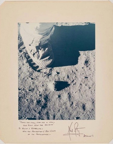Apollo 11 50th anniversary of the moon landing. Neil Armstrong photograph.